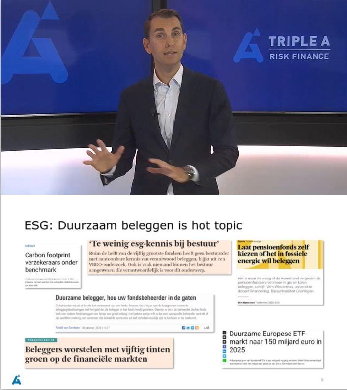 ESG beleggen en risicomanagement
